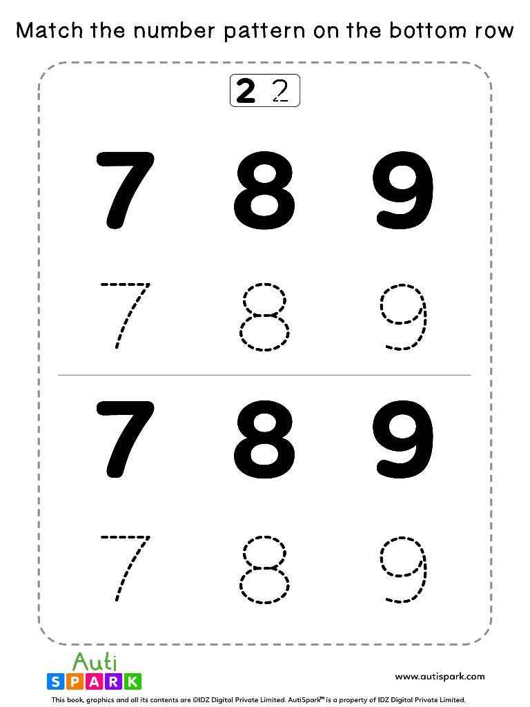 NumberTracingWorksheet 12