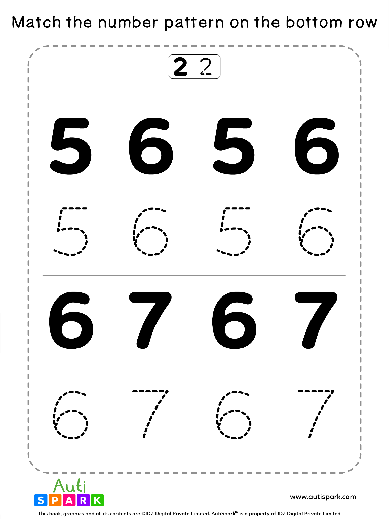 NumberTracingWorksheet 3