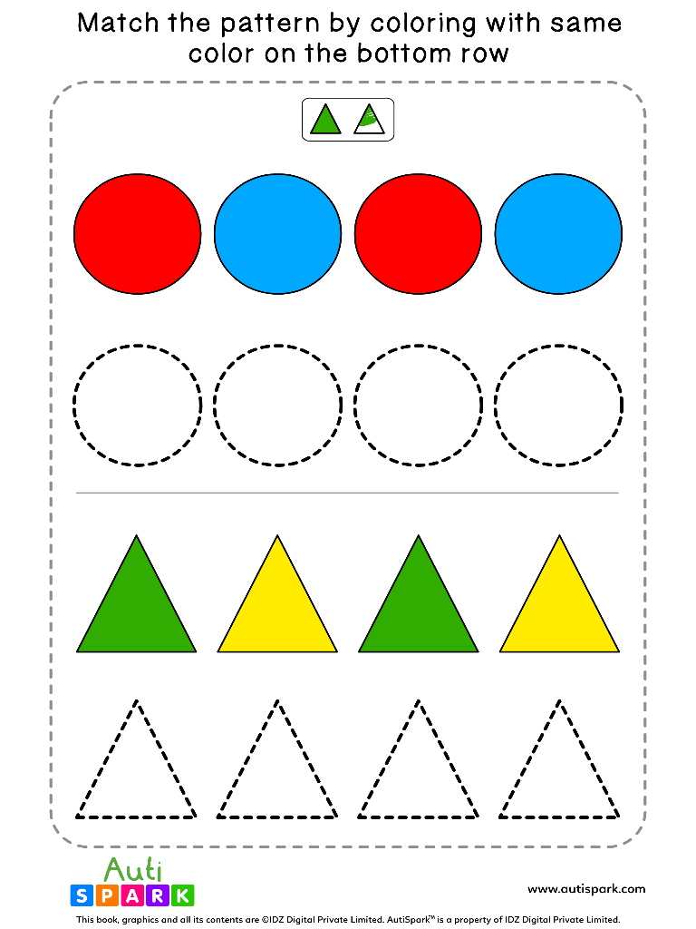 ShapeColoringWorksheet 1