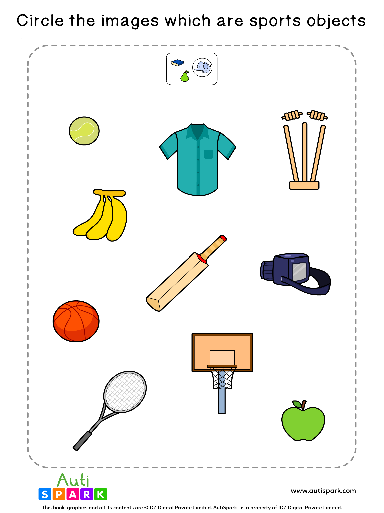 Sort The Sports Objects Worksheet 7