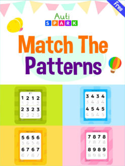 Free Number Tracing Match Number Patterns Workbook : 1