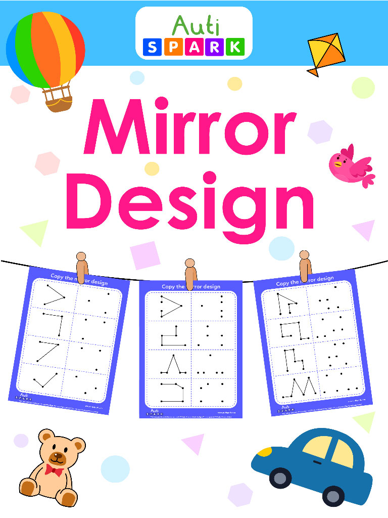 join the dots and copy the mirror design worksheet