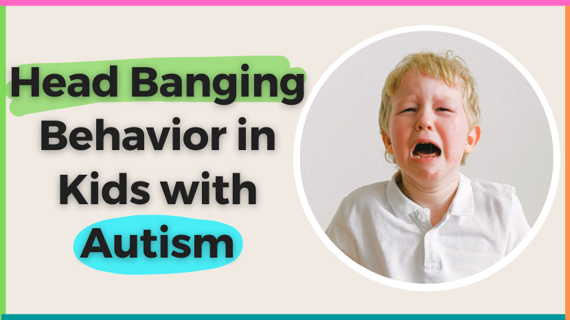 Head banging behavior in kids with autism