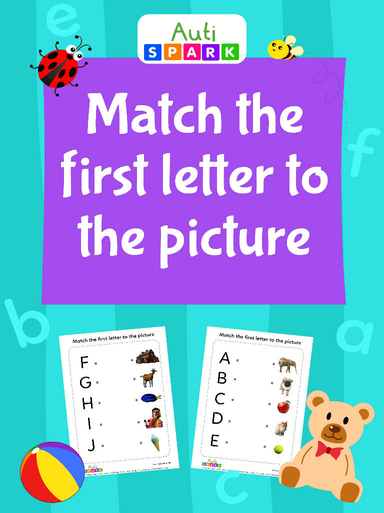 Match The First Letter To The Picture