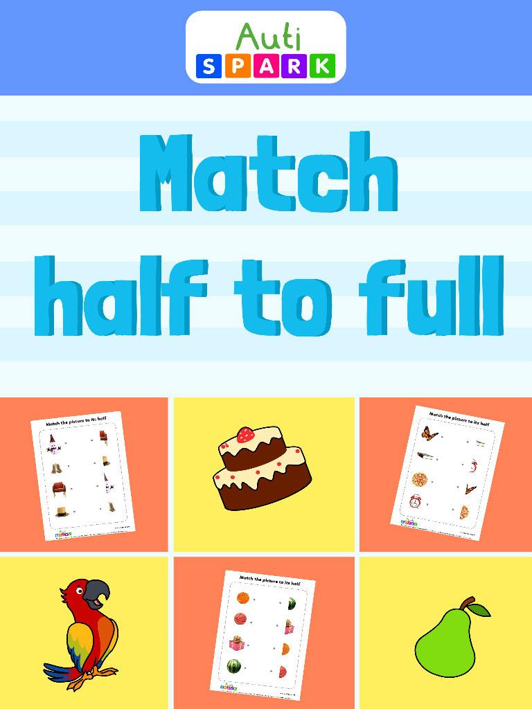 Match half to full